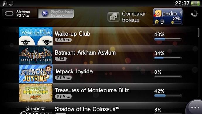 PS Vita - troféus