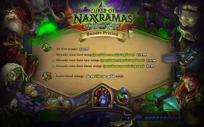 Curse of Naxxramas preço