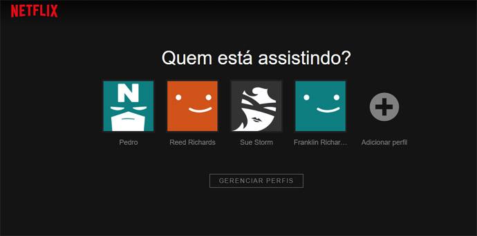 Netflix - perfis