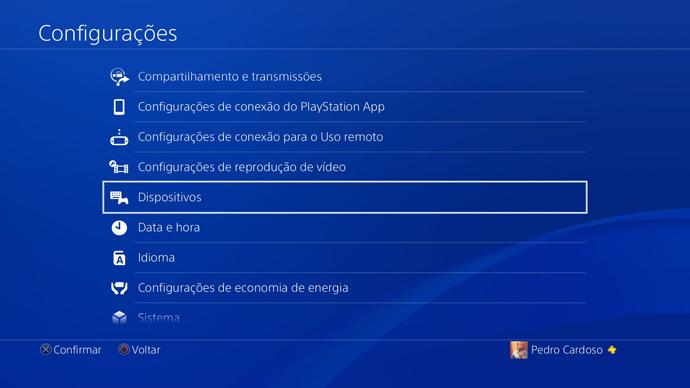 PS4 - dispositivos
