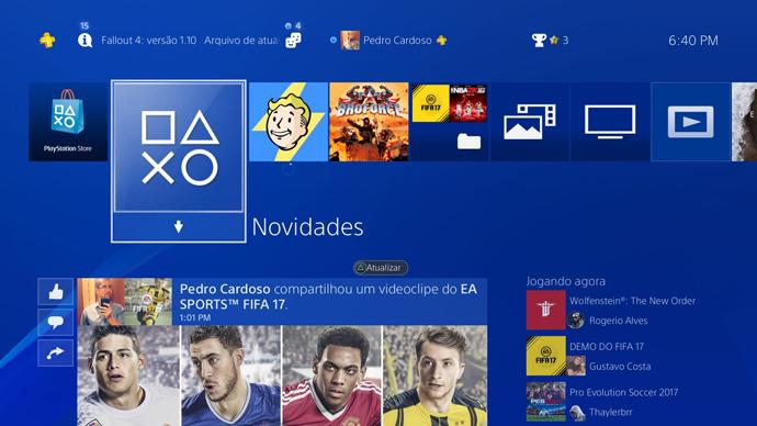 PS4 - novidades