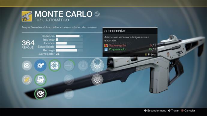 Destiny - Monte Carlo