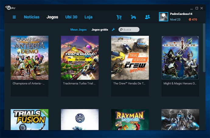 Uplay - jogos grátis