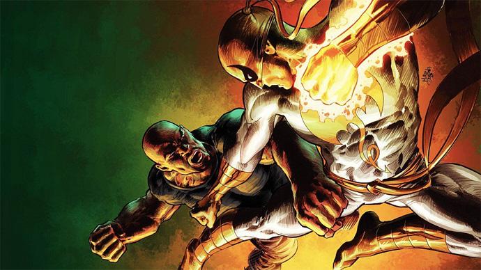 Punho de Ferro e Luke Cage