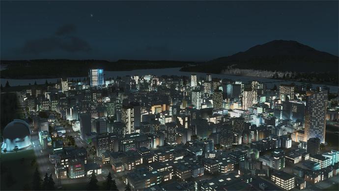 Cities Skyline After Dark