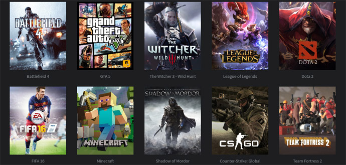 PC para Games: selecione o jogo