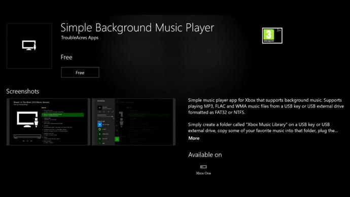 Xbox One - ouvir música de fundo