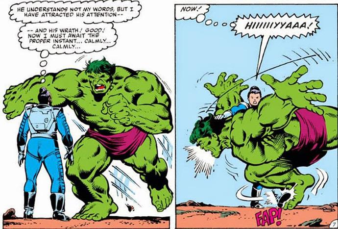 Hulk toma golpe de Aikido
