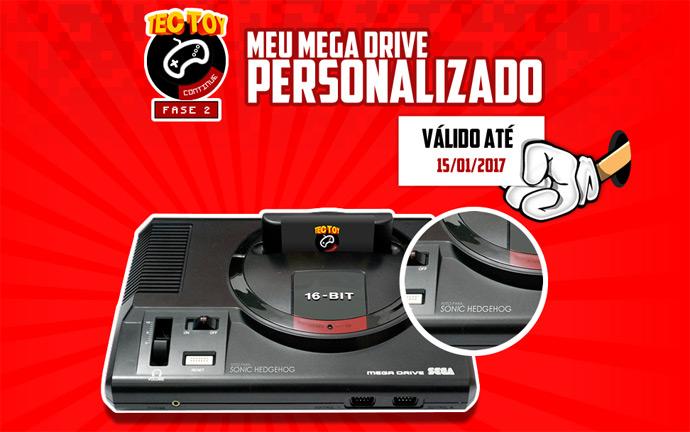 Novo Mega Drive personalizado