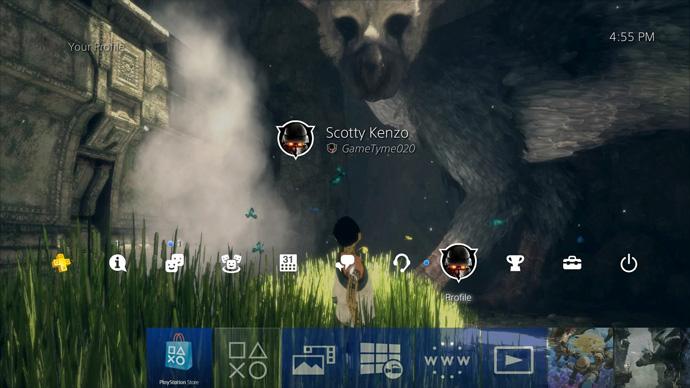PS4 com wallpaper