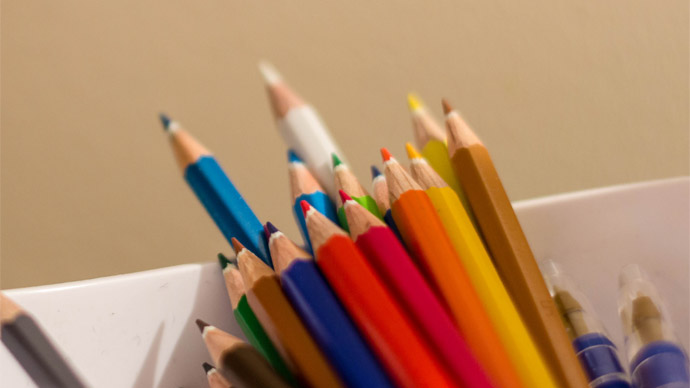 Lápis coloridos para Autodraw