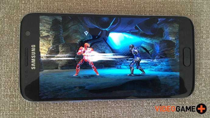 Samsung S7 rodando Power Rangers Legacy