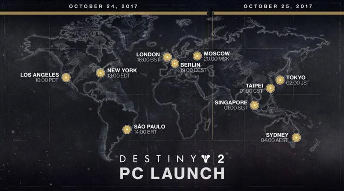 Destiny 2 - lançamento no PC