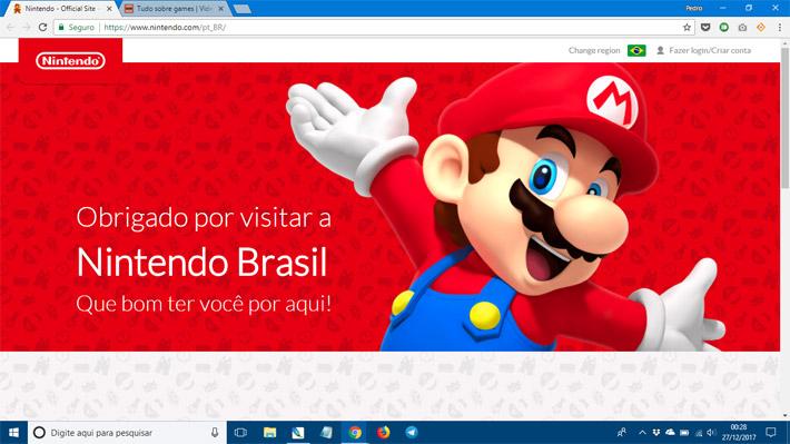 Nintendo site no Brasil